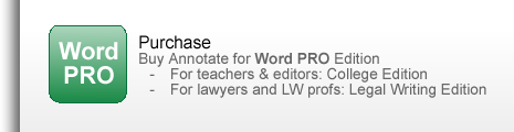 Click to BUY Annotate for Word PRO