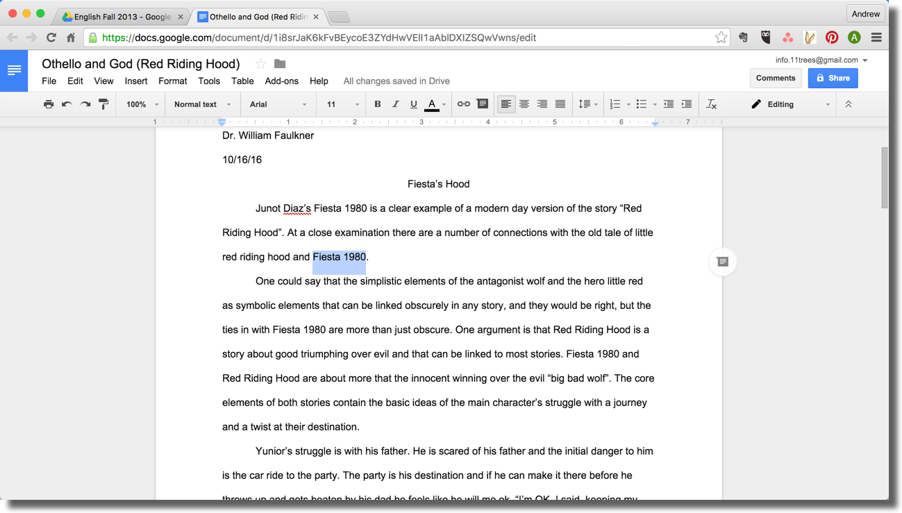 Commenting on google docs with annotate for google chrome for Google docs add highlight