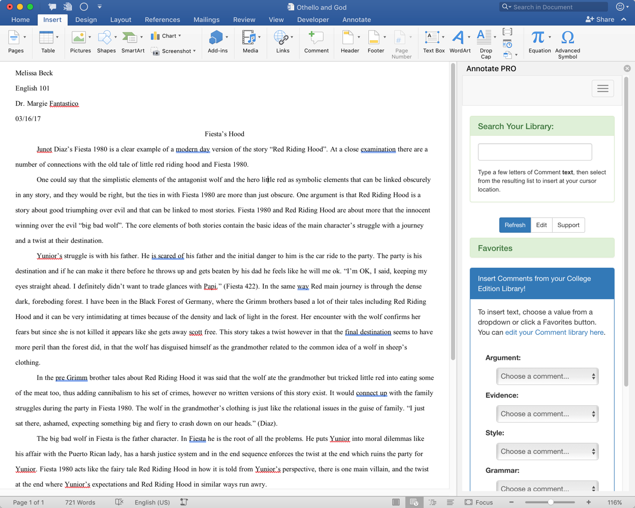 Annotate Pro For Microsoft Word 2016 Installs Through The Office Store €� A  Few Clicks, Sign Up For An Annotate Account, And You're Off!