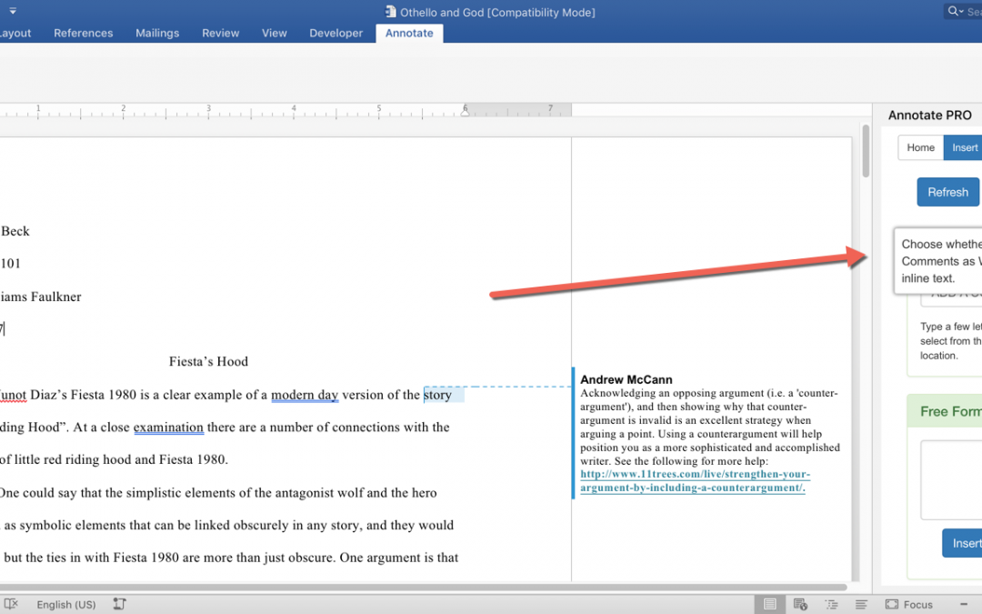 Annotate PRO for Word 2016 – automatic comment bubbles!